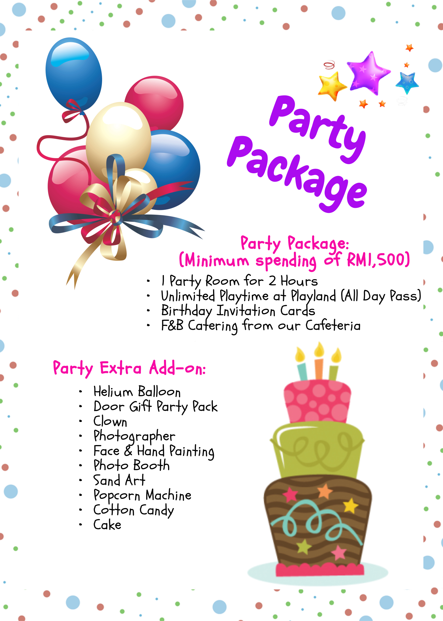 Kidz Zone's Birthday Party Package